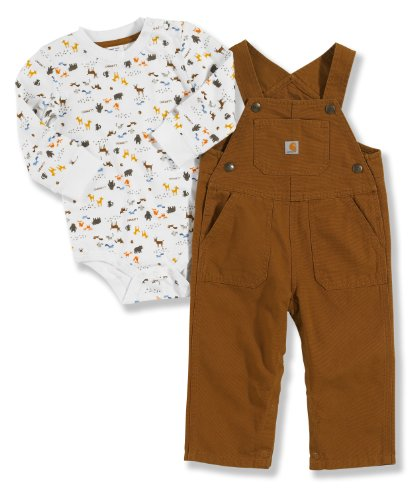 Carhartt Baby-boys Infant Washed Canvas Bib Overall