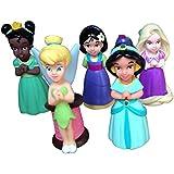 Disney Parks Princess Pool Bath Toys Including Tinkerbell, Tiana, Rapunzel, Mulan, and Jasmine