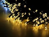 Esky® Solar Powered Outdoor LED String Light, 55ft 17m 100 LED Solar Fairy String Lights for Patio, Garden, Christmas, Party, Wedding (Warm White)