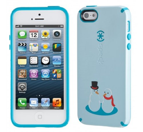 Great Price Speck Products CandyShell Holiday Glossy Case for iPhone 5 & 5S - Retail Packaging - FrostyFriends
