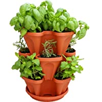 Hanging Vertical Stacking Planter - Terracotta