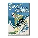 Trademark Fine Art Skiing in Quebec, 1938 Canvas Wall Art, 22x32-Inch