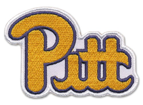 """New 2 3/4"""" X 3 1/2"""" Embroidered University Of Pittsburgh Script Patch - Pitt Pride"""