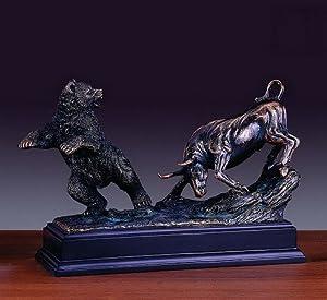 Classic Fighting Wall Street Bull Bear