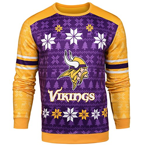 NFL Men's Printed Ugly Sweater,Minnesota Vikings