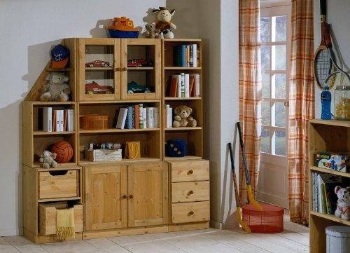 Jugendzimmer-Regalwand-Schrankwand-Kids-World-Kiefer-massiv-FarbeGebeiztGelt