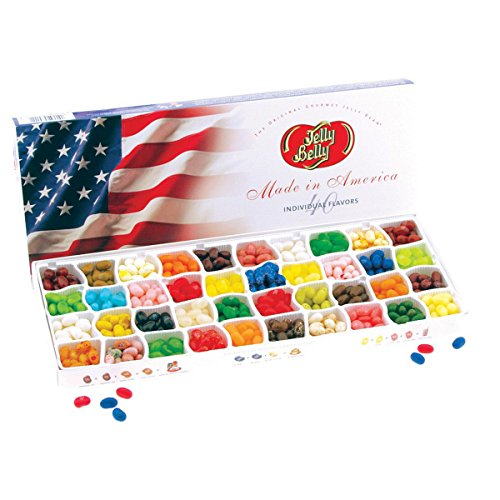 Jelly Belly Gift Box, Flag Sleeve - 40-Flavor - 17 oz (Jelly Belly 40 Flavors compare prices)