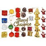 Pragati Pro Christmas Tree Ornament Decoration Assorted Pack Of 8 Varieties - 28 Pieces