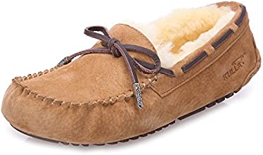 KULLA Women39s Suede Boat Shoe and Sheepskin Wool Outdoor Slipper