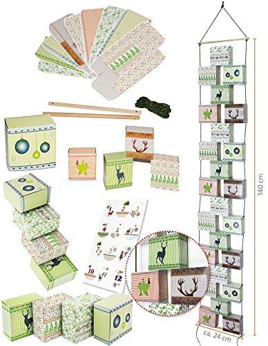 weihnachtskalender als adventskette 24 boxen. Black Bedroom Furniture Sets. Home Design Ideas
