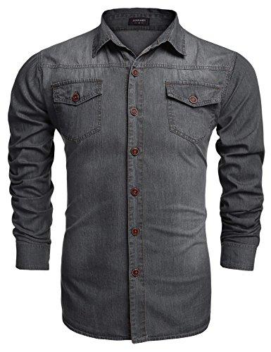 Coofandy Men's Fashion Long Sleeve Button Down Casual Shirts