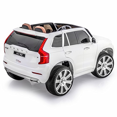 sportrax licensed volvo xc90 kids ride on car battery powered remote control wfree mp3 player white
