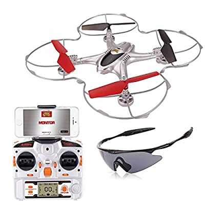Holy Stone FPV RC Quadcopter Drone with WIFI Camera *2.4G 4CH 6-Axis Gyro RTF Headless Mode* INCLUDED GOOGLES AND BONUS BATTERY