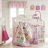 Owlphabet 4 Piece Crib Bedding Set Color: Pink
