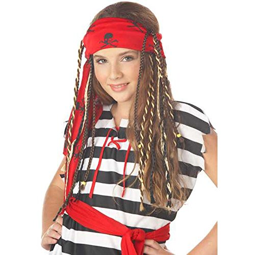 Girl's Buccaneer Pirate Costume Wig With Braids