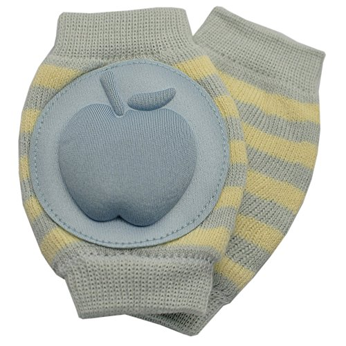 New Baby Crawling Knee Pad Toddler Elbow Pads 805527 Light Blue - Yellow
