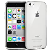 Fosmon DURA-CANDY Glossy Series (Frost Matte Inside) Ultra SLIM-Fit Case Flexible TPU Cover for New Apple iPhone 5C (2013) - Glossy Clear
