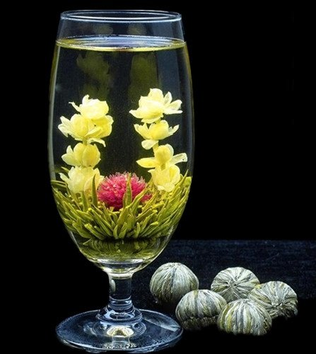 Aa-Class Blooming Flowering Tea Gift Set - Assortment Of 16 Flowering Tea Blossoms, Hight Quality!