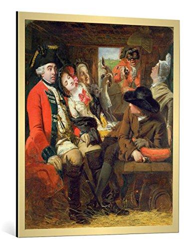 bild-mit-bilder-rahmen-william-powell-frith-a-stagecoach-adventure-bagshot-heath-1848-dekorativer-ku