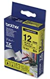 Brother P-touch TZ Label Tape 12mmx8m Black on Yellow Ref TZ631