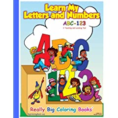 ABC-123 Learn My Letters and Number Giant Super Jumbo Coloring Book (18 x24) Paperback