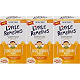 Little Remedies Sore Throat Pops with Real Honey for Kids 3+ | Pack of 3 | Soothing Pops That Calms Fiery Throats