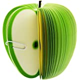 Padmall Creative and Cute 3D Fruit Desk Paper Scratch Pads , Memo Pad , Paper Notes , Mini Notepad, Note Pads , As School Gift for Students, 150 Pages Each ,2 Pcs, Green Apple