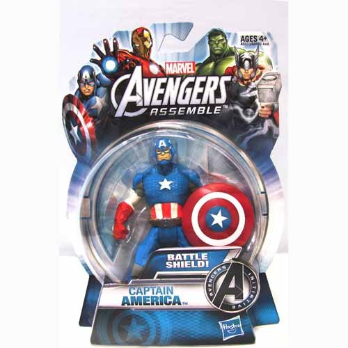Marvel The Avengers Assemble Captain America 4 Inch Action Figurine - 1