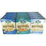 Blue Diamond Natural Nut-Thins Cracker Snacks Variety Pack of 12