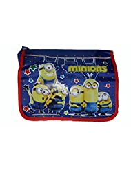 Wise Guys Cartoon Print Sling Bag For Kids - Blue
