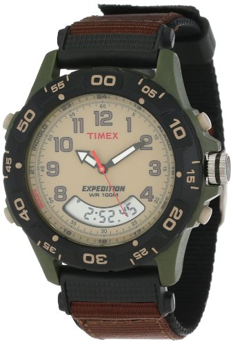 Timex Men'S T45181 Expedition Analog-Digital Chrono Alarm Timer Brown Nylon Strap Watch front-687851