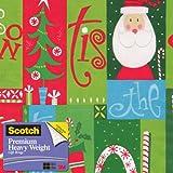 Scotch  Gift Wrap, Jolly Season Pattern, 25-Square Feet, 30-Inch x 10-Feet (AM-WPJS-12)