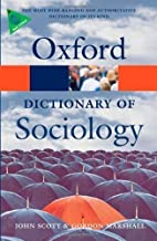 A Dictionary of Sociology (Oxford Paperback…