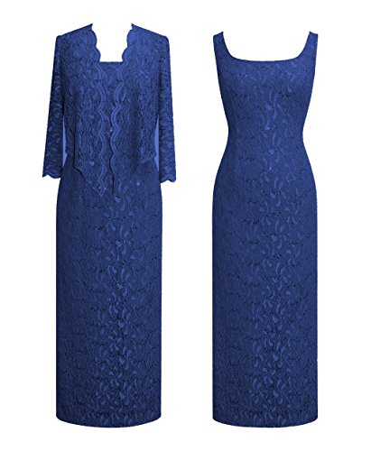 Plus Size Alex Evenings 412800 Navy Dress --Size: 18 Color: Navy