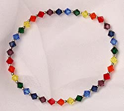 Chakra Stretch Bracelet with Swarovski Crystal Beads
