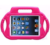 Youdadian Kids Child Shockproof Radio Pattern EVA Case Cover Handle Stand For iPad Mini Hot Pink