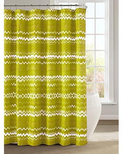 Duck River Textile Mikaela Shower Curtain, Lemon