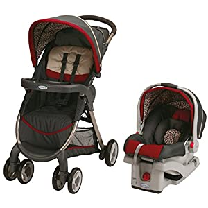 Graco Fastaction Fold Stroller Click Connect Travel System, Finley 2015