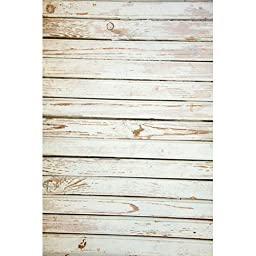 Photography Weathered Faux Wood Floor Drop Background Mat Cf805 Rubber Backing, 4\'x5\' High Quality Printing, Roll up for Easy Storage Photo Prop Carpet Mat (Can Be Used for Decorating Home Also)