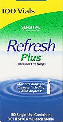 Allergan Refresh Plus Lubricant Eye Drops Single-Use Vials