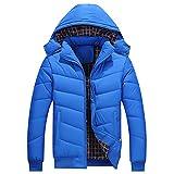 SemiAugust(せみオーガスト)メンズ アウトウェア 冬用 保温 防寒 コットン ファッションジャケット 紳士風 男性用 からーはブルー サイズは5XL