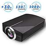 Led Projector, Vamvo Home Theater Movie Projector LED Source Video Projector Supported 1080P Portable Projector Compatible with Fire TV Stick,HDMI/VGA/USB/SD 2018 New Version (Black) (Color: black)