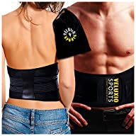 Waist Trimmer Ab Belt (Ultimate Edition – Black) – Adjustable Weight Loss Sauna Belt For Men & Women…