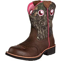 Ariat Women\'s Fatbaby Cowgirl Western Cowboy Boot, Distressed Brown/Camo, 7 M US