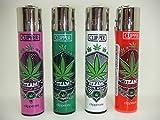 4 x Herb Leaf Clipper Lighters, Clipper Lighter, Gas Lighter