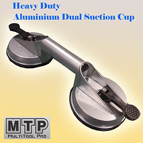 "MTP Dual Head Heavy Duty 4-5/8"" Aluminium Suction Cup Automotive Body Shop Repair Dent Puller Lifer Glass Remover Granite Countertop"