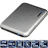 Caja de aluminio Sabrent para disco duro, ultra delgada, USB 3.0, de 2,5