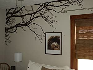 Innovative Stencils 1130 100-Inch X 44-Inch Tree Top Branches Wall