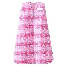 HALO SleepSack Micro Fleece Wearable Blanket, Pink Butterfly Ombre, Medium