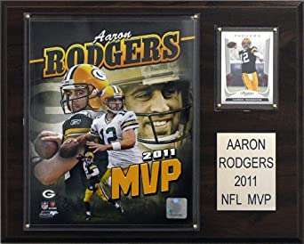 NFL Aaron Rodgers 2011 NFL MVP Green Bay Packers Player Plaque by C&I Collectables